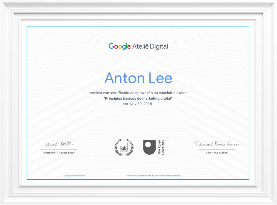 Curso Online e Gratuito em Marketing Digital com certificado do Google?