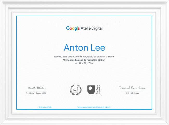 Certificado Curso Googke
