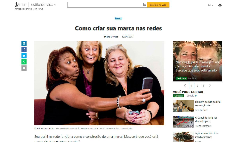 Oto Alvarenga na mídia - Entrevista para o Portal MSN